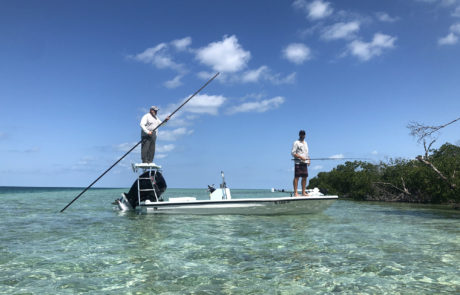 Two men flats fishing the Key West backcountry.